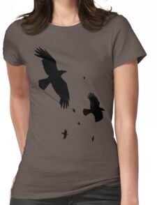 A Murder of Crows In Flight Vector Silhouette T-Shirt