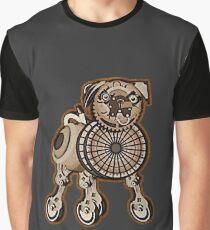 Steampunk Pug Graphic T-Shirt