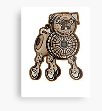 Steampunk Pug Metal Print