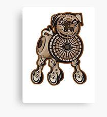 Steampunk Pug Canvas Print