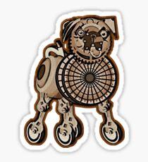 Steampunk Pug Sticker