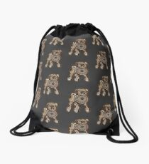 Steampunk Pug Drawstring Bag