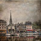 Honfleur in the Rain by dawne polis