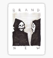 brand new band stickers redbubble
