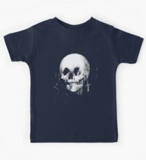 Woman with Halloween Skull Reflection In Mirror Kids Clothes