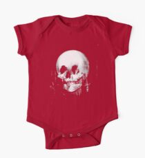 Woman with Halloween Skull Reflection In Mirror One Piece - Short Sleeve