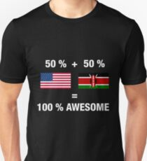 Half Kenyan Half American 100% Kenya Flag Unisex T-Shirt