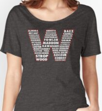 W is for Win Flag - Fun North Side Sports Roster Logo Women's Relaxed Fit T-Shirt