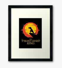 The Tyrant Lizard King  Framed Print