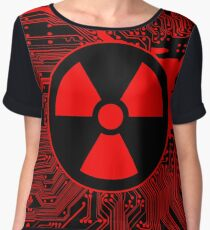 Cybergoth - Radioactive (red) Women's Chiffon Top