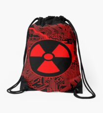 Cybergoth - Radioactive (red) Drawstring Bag