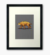 Prehistoric Pixels - Smiledon  Framed Print