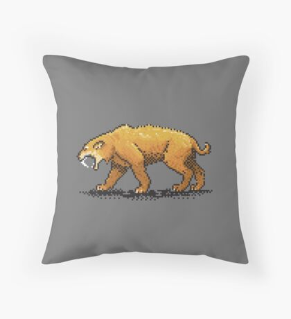 Prehistoric Pixels - Smiledon  Throw Pillow