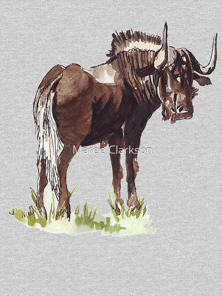 Black Wildebeest (Connochaetes gnou) by MareeClarkson