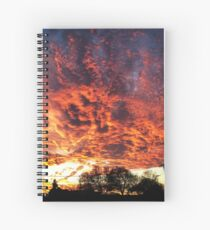 Firey Sunset Spiral Notebook