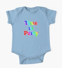 Time To Party - Wall Clock Kids Clothes