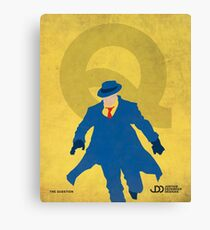 The Question - Superhero Minimalist Alphabet Print Art Canvas Print