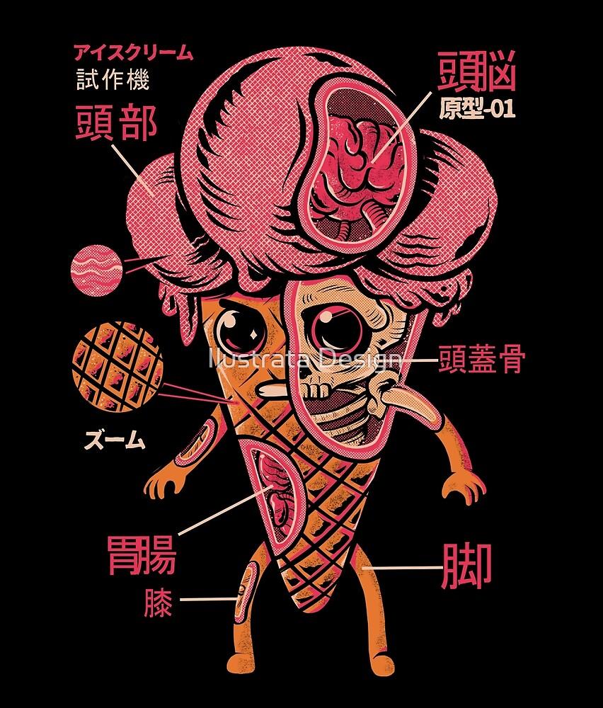 Ice Cream Kaiju by Ilustrata Design