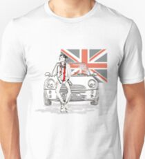 Mini car and Union Jack  T-Shirt
