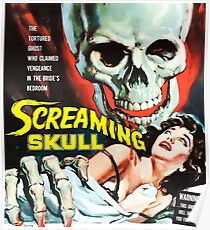 The Screaming Skull vintage movie poster Poster