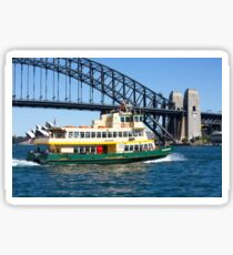 Sydney Ferry and Harbour Bridge New South Wales Australia  Sticker