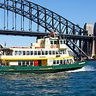 Sydney Ferry and Harbour Bridge New South Wales Australia  by Martin Berry Photography