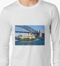 Sydney Ferry and Harbour Bridge New South Wales Australia  Long Sleeve T-Shirt