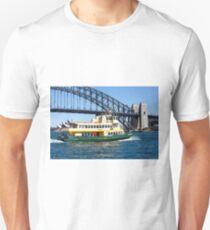 Sydney Ferry and Harbour Bridge New South Wales Australia  T-Shirt