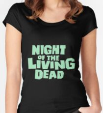 Night of the Living Dead logo Women's Fitted Scoop T-Shirt