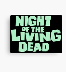 Night of the Living Dead logo Canvas Print