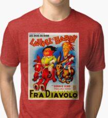 LAUREL & HARDY; Vintage Fra Diavolo Advertising Print Tri-blend T-Shirt