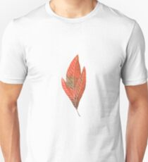 Leaf in red autumn colours watercolour winter design  T-Shirt