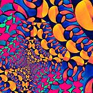 Psychedelic Abstract Twisted  Pattern  by Amy Anderson
