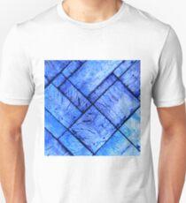 Blue Parquet Floor Unisex T-Shirt