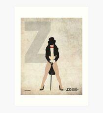 Zatanna - Superhero Minimalist Alphabet Print Art Art Print