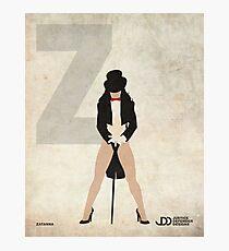 Zatanna - Superhero Minimalist Alphabet Print Art Photographic Print
