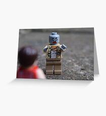 LEGO Zombie Greeting Card