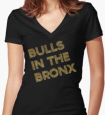 Bulls in the Bronx Women's Fitted V-Neck T-Shirt