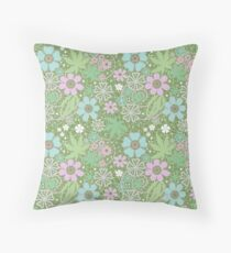 Multicolor lace floral pattern . Throw Pillow