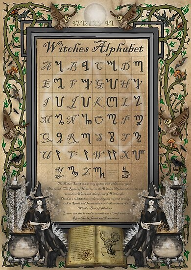 Quot Witches Alphabet Quot Poster By Magicalartz Redbubble