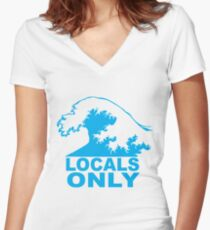 Locals Only Women's Fitted V-Neck T-Shirt