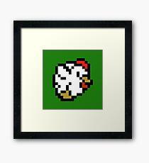 Chicken (8-bit / 16-bit / Pixelated) Framed Print
