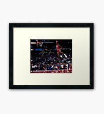 Michael Jordan Slam Dunk 2 Framed Print