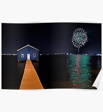 Crawley Edge Boatshed Fireworks  Poster