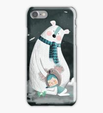 Polar Bear Hug iPhone Case/Skin
