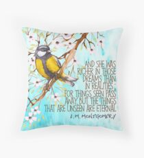 Anne of the Island Quote Throw Pillow