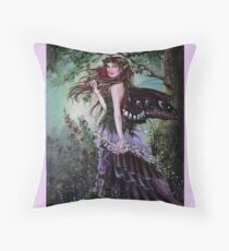 Forest/ garden fairy tote bag Throw Pillow