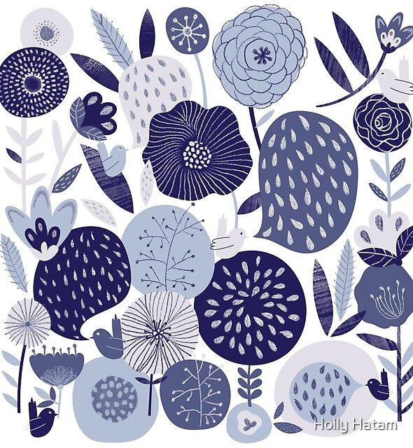 Flowers & Birds by Holly Hatam