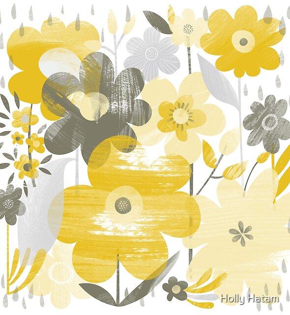 Rainy Flowers by Holly Hatam