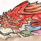 Red BookWyrm by Jessica Feinberg